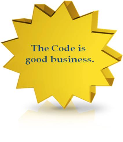 The Code is good business.